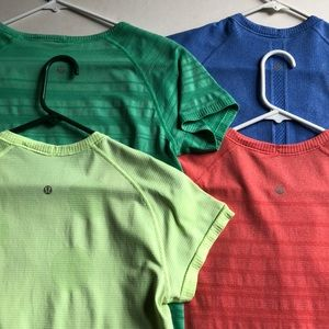 Lululemon Running Tops Stretchy Athletic Lot of 4